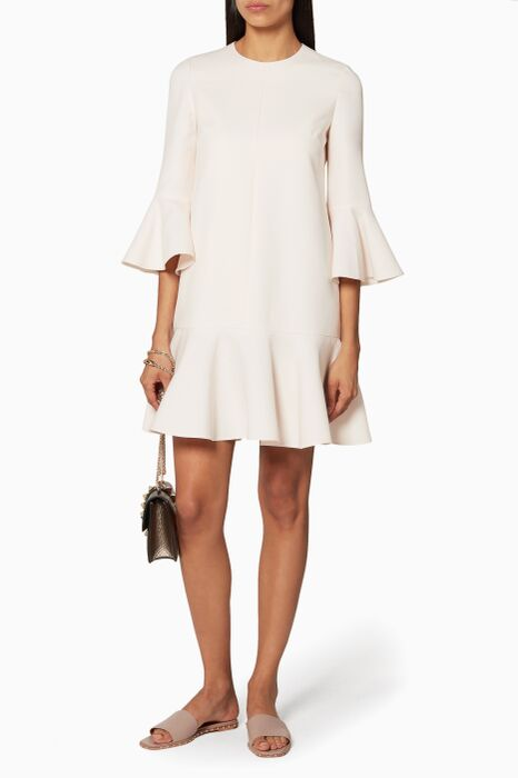 White Crepe Couture Dress
