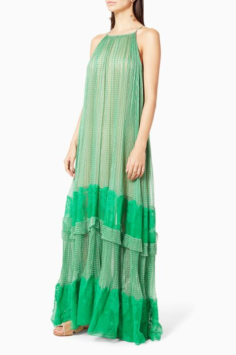 Green Joy Printed Gown
