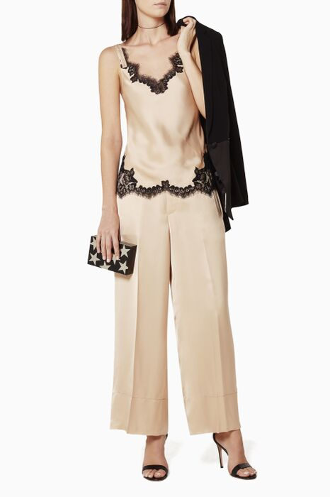 Beige Tailored Pants