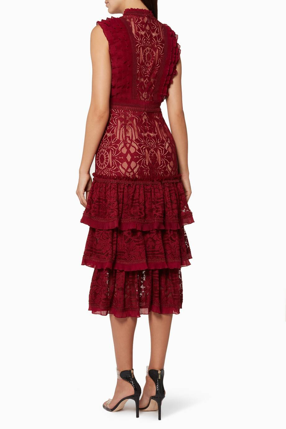 Shop Luxury Jonathan Simkhai Scarlet Red Tower Tiered