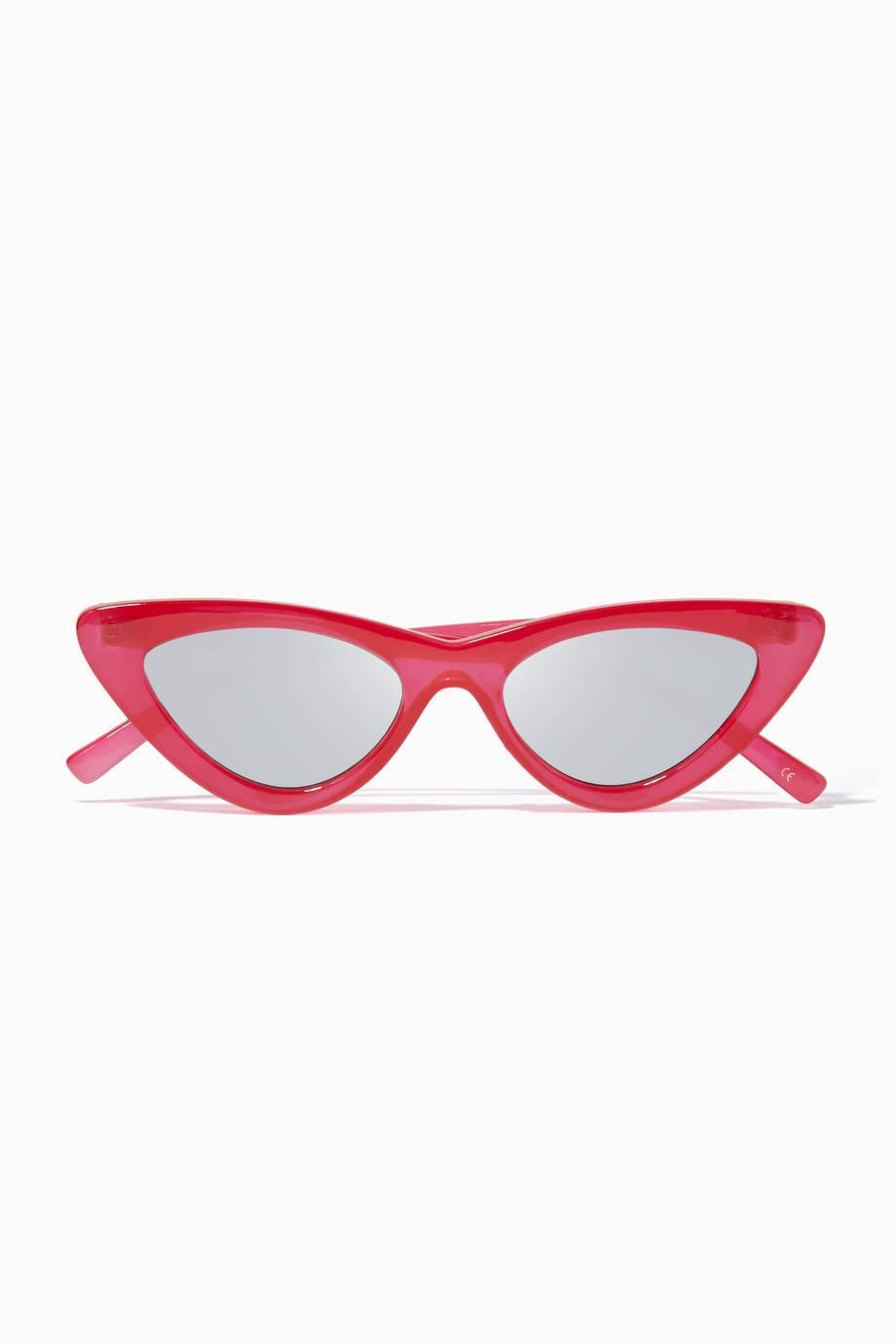 1246a74814 Shop Luxury Le Specs Red The Last Lolita Sunglasses
