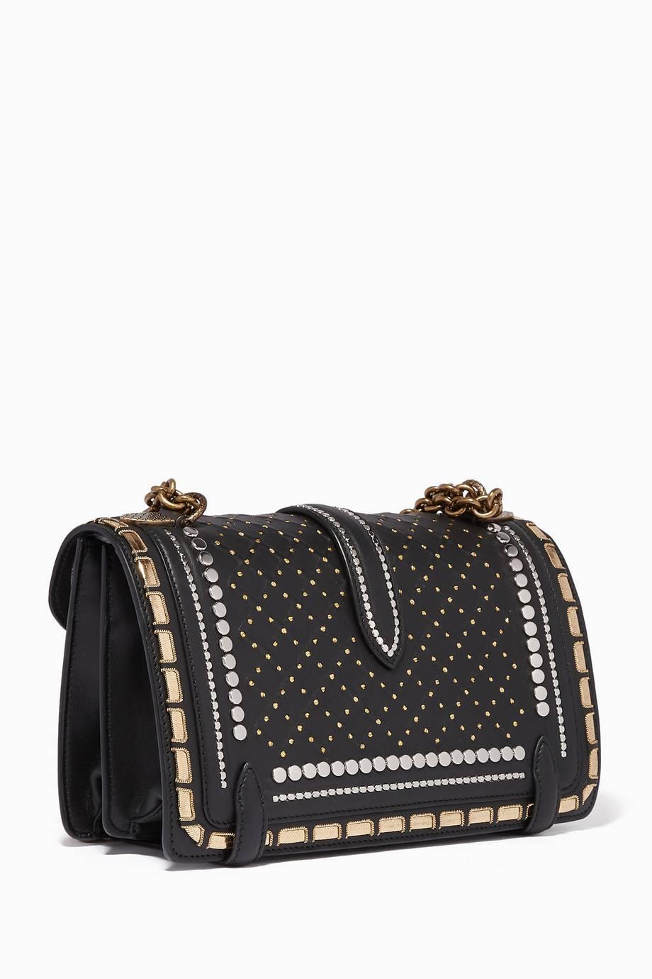 Shop Luxury Bottega Veneta Black Catena Studded City Knot Shoulder ... d76878c8ecbd6