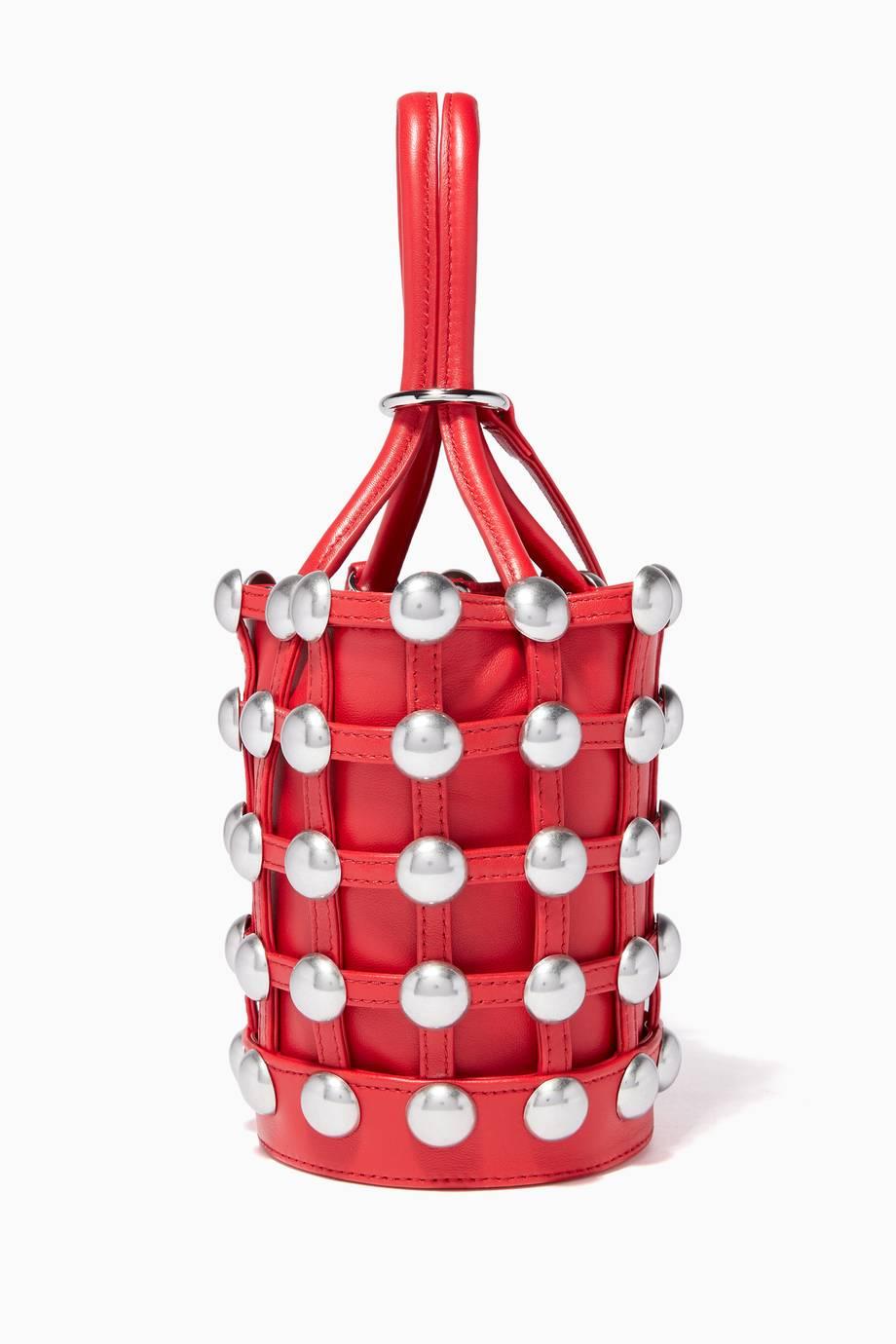 c09d55865338 Shop Luxury Alexander Wang Red Mini Roxy Bucket Bag